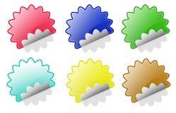 圈子折叠星形贴纸 图库摄影