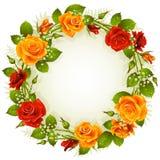 圈子框架玫瑰色形状向量 库存照片
