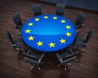 圈子桌欧盟 库存照片