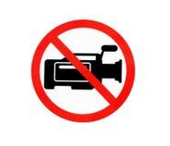 圈子没有VDO照相机的被禁止的标志 免版税库存图片