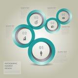 圈子现代Infographic设计元素 免版税库存照片