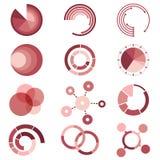 圈子用图解法表示模板汇集为 库存图片