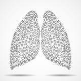 圈子的抽象人的肺 免版税库存照片