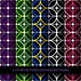圈子的无缝的几何样式在白色背景的 免版税库存照片
