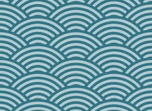 圈子的无缝的几何样式 免版税图库摄影