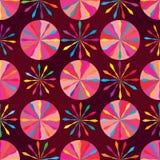 圈子箭头样式桃红色对称无缝的样式 免版税图库摄影