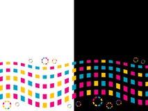 圈子色的正方形 免版税库存图片