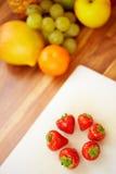 圈子草莓 免版税库存图片
