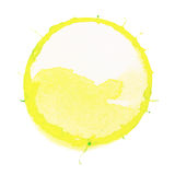 圈子装饰设计图象例证向量黄色 免版税库存图片