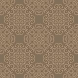 圈子设计在咖啡色的口气的无缝的背景样式例证 免版税库存图片