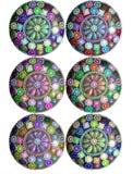 圈子设计要素珠宝俏丽的万维网 库存照片