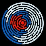 圈子迷宫  向量例证
