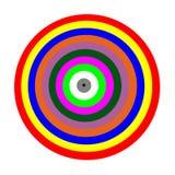 圈子颜色的五颜六色 库存图片