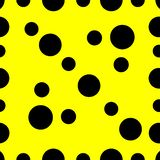 圈子驱散闪烁几何黄色抽象背景文本 库存例证