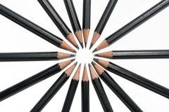 圈子从上面的铅笔 库存图片