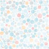 圈子水彩淡色无缝的样式 向量 免版税库存图片