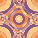 圈子紫色无缝的样式 免版税库存照片