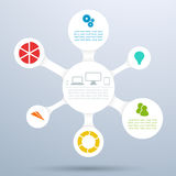 圈子3d Infographic图布局2 图库摄影
