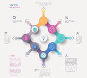 圈子infographic概念 库存照片