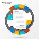 圈子Infographics 图的模板 也corel凹道例证向量 免版税图库摄影