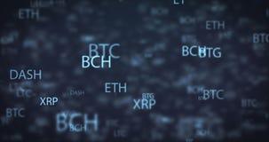 圈数字式金钱移动的背景 股票录像
