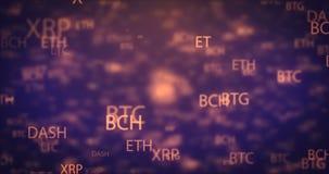 圈数字式金钱移动的背景 股票视频
