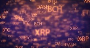 圈数字式金钱移动的背景 影视素材