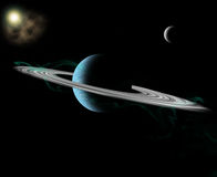 圈状的行星 免版税图库摄影