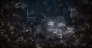 圈移动了电子游戏象背景 向量例证