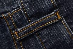 圈蓝色牛仔裤 库存图片