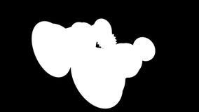 圈转动减速火箭双眼在蓝色背景 向量例证