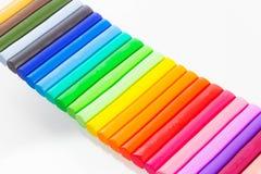 黏土五颜六色塑造 免版税库存图片
