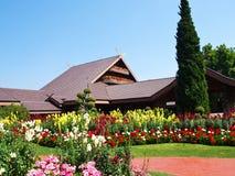 土井桐树别墅,清莱,泰国 免版税库存照片