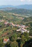 土井美斯乐山的, Chiangrai,泰国苏格兰高地Village 库存照片