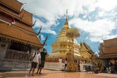 土井素贴寺庙在清迈,泰国 免版税库存图片
