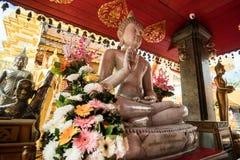 土井素贴寺庙在清迈,泰国 库存图片