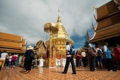 土井素贴寺庙在清迈,泰国 免版税库存照片