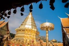 土井素贴Chiangmai,普遍的寺庙在Chiangmai 免版税库存照片
