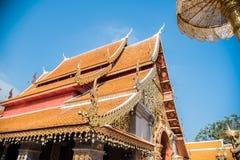 土井素贴Chiangmai,普遍的寺庙在Chiangmai 免版税库存图片