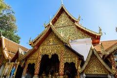 土井素贴Chiangmai,普遍的寺庙在Chiangmai 库存图片