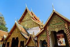 土井素贴Chiangmai,普遍的寺庙在Chiangmai 库存照片