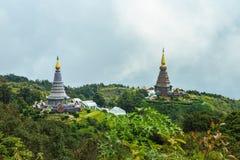 土井inthanon的塔在Chiangmai省,泰国 免版税库存照片