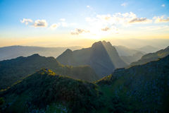 土井Laung城镇Dao - Chiangmai泰国 库存图片