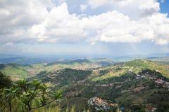 土井MaeSalong, Chiangrai,泰国,风景视图 免版税库存照片