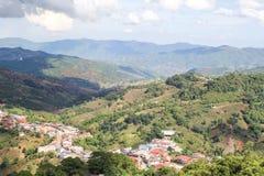 土井MaeSalong, Chiangrai,泰国,风景视图 免版税库存图片