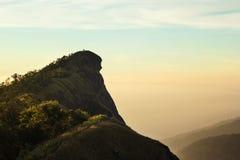 土井Monjong,一座平安的山在Chiangmai,泰国 图库摄影