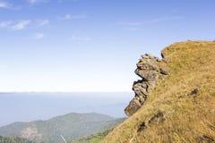 土井Monjong,一座平安的山在Chiangmai,泰国 库存图片