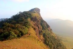土井Monjong,一座平安的山,在Chiangmai,泰国 库存照片