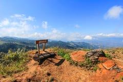 土井Pha特性在Wiang Kaen区,清莱,泰国 免版税图库摄影