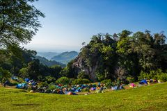 土井Samoe Dao和Pha华唱歌,野营的地标在北泰国 免版税库存图片